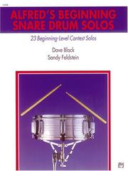 Cover of: Alfred's Beginning Snare Drum Solos
