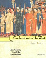 Cover of: Civilization in the West, Vol. A