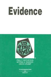 Cover of: Evidence in a Nutshell, 5th ed. (Nutshell Series)