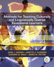 Cover of: Methods for Teaching  Culturally and Linguistically Diverse Exceptional Learners
