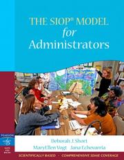 Cover of: The SIOP Model for Administrators (SIOP Series)