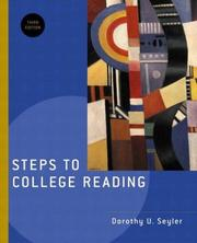 Cover of: Steps to College Reading, Third Edition