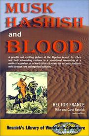 Cover of: Musk Hashish and Blood (Resnick's Library of Worldwide Adventure)