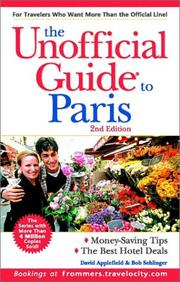 Cover of: The Unofficial Guide to Paris