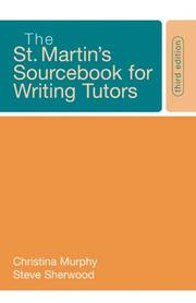 Cover of: The St. Martin's Sourcebook for Writing Tutors