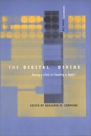Cover of: The Digital Divide: Facing a Crisis or Creating a Myth? (MIT Press Sourcebooks)