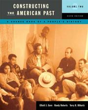 Cover of: Constructing the American Past, Volume II (6th Edition) (Constructing the American Past (Longman))