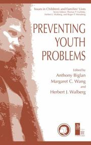 Cover of: Preventing youth problems