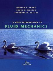 Cover of: A Brief Introduction to Fluid Mechancis (Mechanical Engineering)