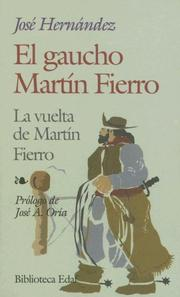Cover of: El gaucho--Martín Fierro