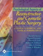 Cover of: Psychological Aspects of Reconstructive and Cosmetic Plastic Surgery