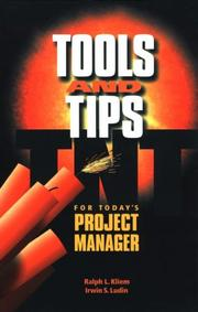 Cover of: Tools and Tips for Today's Project Manager
