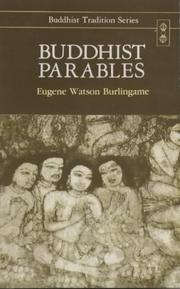 Cover of: Buddhist Parables; Translated from the Original Pali (Buddhist Traditions, Vol 13)