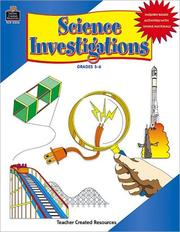 Cover of: Science Investigations