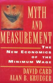 Cover of: Myth and Measurement