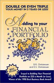 Cover of: Adding to Your Financial Portfolio
