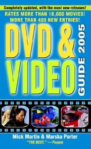 Cover of: DVD & Video  Guide 2005 (Video and DVD Guide)