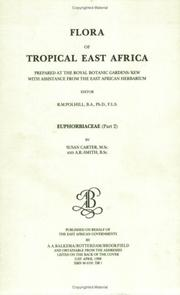 Cover of: Flora of Tropical East Africa - Euphorbiac v2 (1988) (Flora of Tropical East Africa)