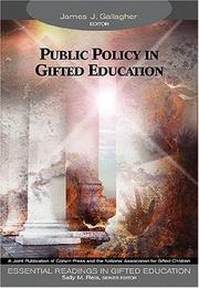 Cover of: Public policy in gifted education