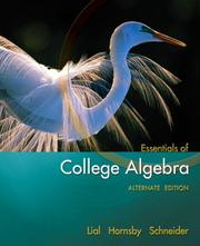 Cover of: Essentials of College Algebra, Alternate Edition (Lial/Hornsby/Schneider Series)