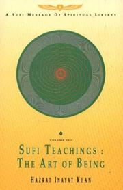 Cover of: Sufi Teachings (Sufi Message)