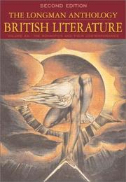 Cover of: The Longman Anthology of British Literature, Volume 2A