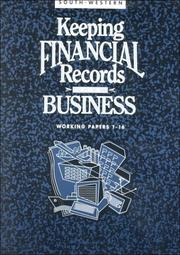 Cover of: Keeping Financial Records for Business