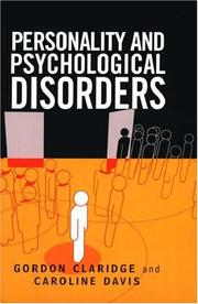 Cover of: Personality and Psychological Disorders (Psychology)