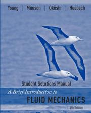 Cover of: A Brief Introduction to Fluid Mechanics, Student Solutions Manual