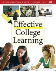 Cover of: Effective college learning