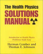 Cover of: The Health Physics Solutions Manual