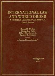 Cover of: International Law and World Order