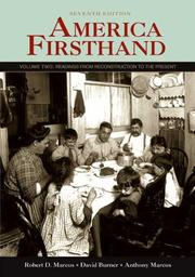 Cover of: America Firsthand: Volume Two