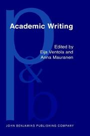 Cover of: Academic writing