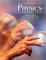 Cover of: Student Solutions Manual for Hecht's Physics