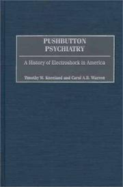 Cover of: Pushbutton Psychiatry: A History of Electroshock in America