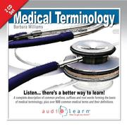Cover of: Medical Terminology Audiolearn 2 CD Set