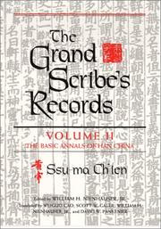 Cover of: The Grand Scribe's Records: Volume 2: The Basic Annals of the Han Dynasty