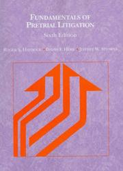 Cover of: Fundamentals of Pretrial Litigation