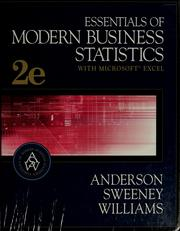 Cover of: Essentials of Modern Business Statistics With Microsoft Excel