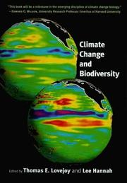Cover of: Climate change and biodiversity