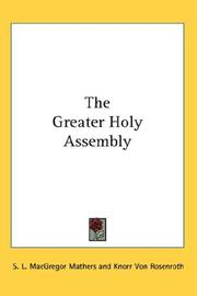 Cover of: The Greater Holy Assembly