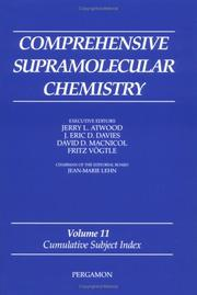 Cover of: Comprehensive Supramolecular Chemistry