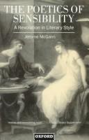 Cover of: The poetics of sensibility: a revolution in literary style