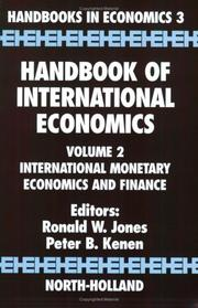 Cover of: Handbook of International Economics, Volume 2: International Monetary Economics and Finance
