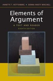 Cover of: The Elements of Argument