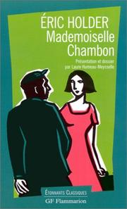 Cover of: Mademoiselle Chambon