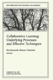 Cover of: Collaborative Learning