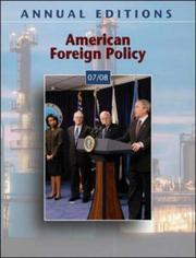 Cover of: Annual Editions: American Foreign Policy 07/08 (Annual Editions : American Foreign Policy)