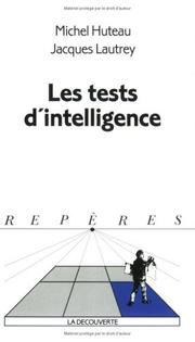 Cover of: Les tests d'intelligence